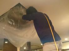 大洲市 飲食店様 天井埋め込み型エアコンクリーニング施工事例