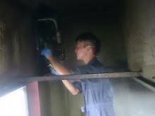 西予市 飲食店 厨房フード 換気扇クリーニング施工事例