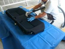 宇和島市 一般のお客様 車内のおもらし シートクリーニング&脱臭・除菌施工事例