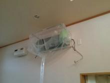 宇和島市 一般のお客様 リビング用ロボット付エアコンクリーニング施工事例