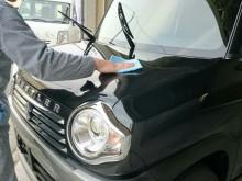宇和島市 一般のお客様(軽自動車)  洗車・スーパーガラスコーティング施工事例
