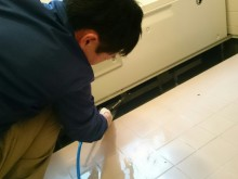 宇和島市 有料老人ホーム・介護施設 特殊浴槽・浴槽内部・高圧洗浄クリーニング 施工事例
