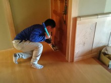 西予市 一般のお客様 親の家 リフォームに伴う 室内清掃・ワックス掛け一式施工事例