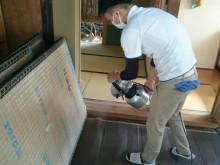 宇和島市 一般のお客様 古民家清掃 畳防虫(ダニ・ノミ等)抗菌処理施工事例