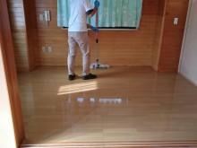 宇和島市 一般のお客様 遺品整理後 ワックス剥離 フローリング洗浄・ワックス施工事例