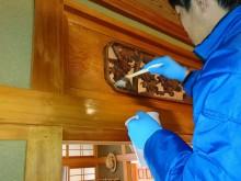 宇和島市 一般のお客様 和室 白木 天井・欄間・柱・押し入れクリーニング施工事例
